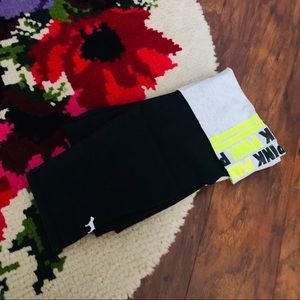 Victoria Secret PINK Black & Gray Knee Yoga Pants